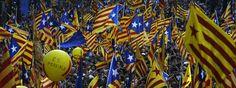 Masiva manifestación por la independencia de Catalunya por la Diada