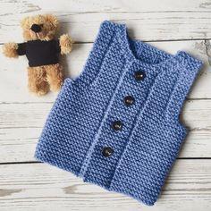 PDF-pattern Knit baby vest Knitting pattern Baby waistcoat | Etsy