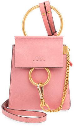 dd6d2122b808 Chloé Faye Small Leather Bracelet Bag Chloe Faye Small
