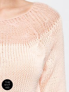 knitted sweater peach mohair merino transparent by THEKNITKID