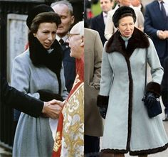 Princess Anne wearing the same coat some 30 years later!  I wish I still fitted into my clothes years later