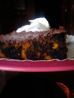chocolate butterscotch Halloween cake