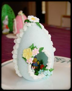 MomE25: How To Make A Sugar Egg. I really must try one sometime. Do you think Sarah would have trouble eating it?