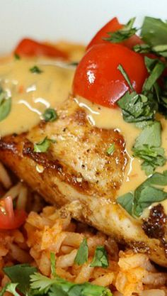 Cheesy Grilled Mexican Chicken Rice