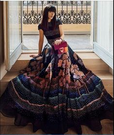 Laura Comolli, Italian fashion blogger, known for her blog 'Purses & I' wearing our St. Tropez Evening Gown from Fall Winter 2017 Infinity Collection by Rahul Mishra.