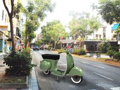 This scooter was rendered entirely in Illustrator and is based off the 1962 series of Vespa scooters. Vespa Scooters, 3 D, Illustrator, Vintage, Design, Vintage Comics, Illustrators