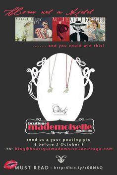 Poster design for 'Boutique Mademoiselle Vintage' competition {2011}  #canada #vintagefashion #jewellery #poster #design