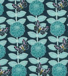 Keepsake Calico™ Cotton Fabric-Spring Meadow Flower Butterfly Stripe