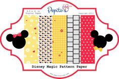 PrintINK Disney Magic Digital Paper 5  8.5 x 11 by PepitosRoom, $2.50