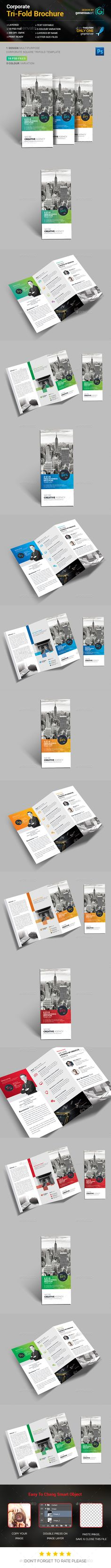Tri-Fold Brochure Template PSD #design Download: http://graphicriver.net/item/trifold-brochure/14036264?ref=ksioks