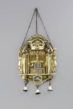 Torah shield from 1788. The shield protected the Jewish holy scrolls of the Torah.