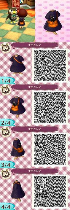 Animal Crossing: New Leaf meets Kiki's Delivery Service! Adorable! If anyone finds Halloween- or food-themed QR codes, can you please post it? My house and town are going to be mostly these themes so I'm looking for stuff like Jack'o'Lanterns, black cats (can be Gigi from Kiki's Delivery…