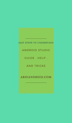 Android Studio Tutorial For Beginners Step By Step Intellij Idea, Studio App, Studio Layout, Android Studio, Android Apps, Amazing, Google