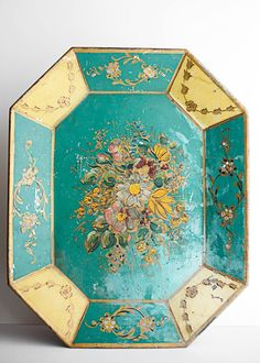 Beautiful French Painted Tray
