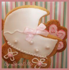 Christening baby cookies Caroline-Galletas bautizo Carolina
