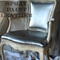 Spray Paint Leather That Is. For That