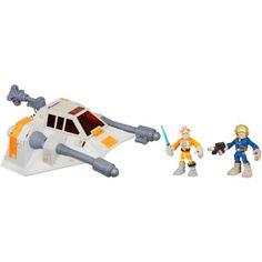 Star Wars Jedi Force Playskool Heroes Snowspeeder with Luke Skywalker and Han Solo