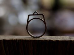 """wooden rune ring meaning """"Q"""", """"Discipline"""" & """"Knowledge"""" by runecycle on Etsy Rings With Meaning, Black Acrylics, Runes, Knowledge, Silver Rings, Wedding Rings, Engagement Rings, Tattoos, Tatuajes"""