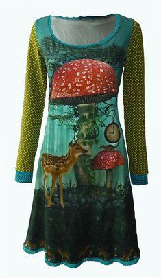 06a75e4147cba1 Fairy tale- sprookjes jurk- sprookjesjurk met hert - Elizz maat 36 t m 56