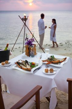 Indulge in a candlelit dinner for two in a private spot on the beach.