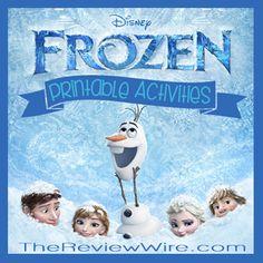 Disney's FROZEN Printable Activities #DisneyFrozen