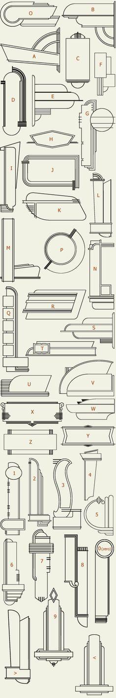 Letterhead Fonts / LHF 20 Six Panels (actual outlines, preview set 1)