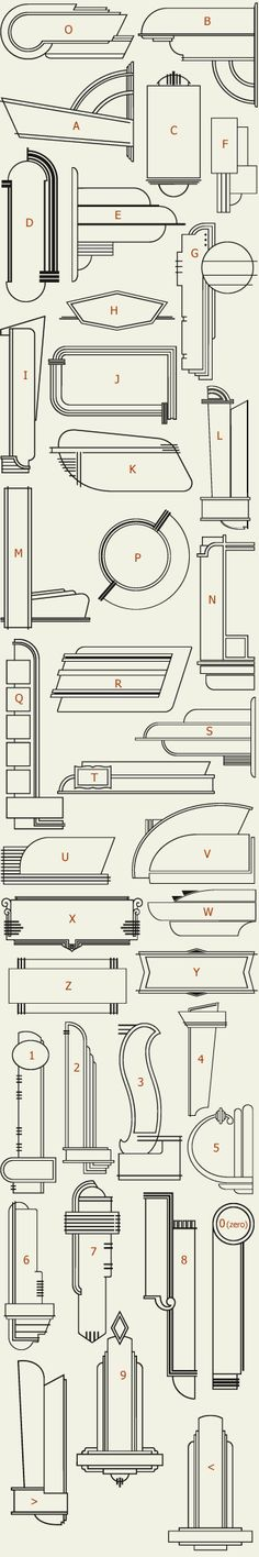 Letterhead Fonts / LHF 20 Six Panels (actual outlines, preview set 1)