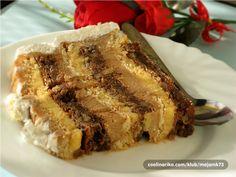 Baking Recipes, Cookie Recipes, Dessert Recipes, Desserts, Torte Recepti, Torte Cake, No Bake Cake, Chocolate Cake, Banana Bread