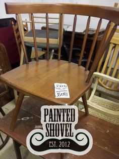 Spindle back chair sold by auction at Painted Shovel in Avondale, AL.