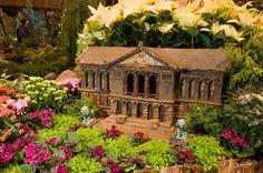 Miniature landmarks during Chicago Botanic Garden's Wonderland Express