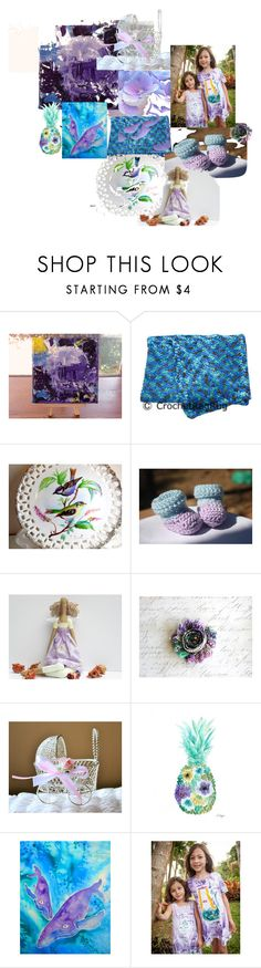 """""""Purple and Blue Tropics"""" by pippinpost ❤ liked on Polyvore featuring EASEL and crazy4etsy"""