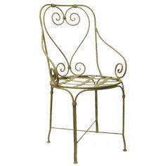 Cadeira de Ferro Charme Verde :: Loja Dom Mascate   580,00