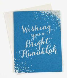 Beautiful blue and silver Hanukkah card set!