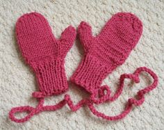 Childrens Mittens Hand Knit   Fits Approximately Size by LoveNYarn, $12.00