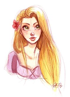 Rapunzel (I like the concept art for Tangled much better.)