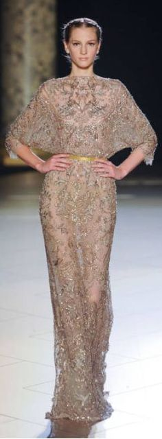 If you love lace and sparkles you will love this designer. Elie Saab.  Beautifully feminine.