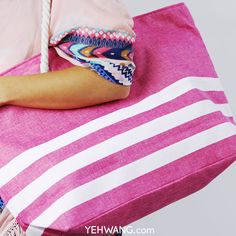 Yehwang Beach Bag Three Stripes Creating A Business, Wholesale Jewelry, On Set, Latest Fashion Trends, Fashion Online, Jewelry Accessories, Platform, Stripes, Bag