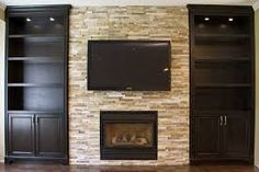 Awesome Tips: Chimney Farmhouse Fireplace corner rock fireplace.Fireplace Art Awesome fireplace with tv above dvd.Fireplace Built Ins Lighting. Shelves Around Fireplace, Fireplace Bookshelves, Fireplace Built Ins, Home Fireplace, Fireplace Design, Fireplace Glass, Bookcases, Wall Shelves, Fireplace Ideas