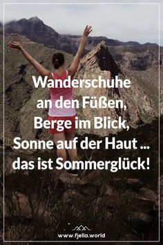 Aim High - Inspirierende Wandersprüche und Bergzitate Walking shoes on the feet, mountains in view, sun on the skin . that's summer happiness! You can find even more great hiking slogans and mou Mountain Quotes, First Class Tickets, Hiking Quotes, Aim High, Word 3, Short Article, Buy Tickets, Business Travel, Slogan