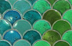 Handmade Floor & Wall Tiles at Perini Tiles Melbourne Casablanca Fish Scale Tile, Beach Theme Bathroom, Bathroom Ideas, Tile Showroom, Glazed Tiles, Tile Projects, Home Design Decor, House Design, Handmade Tiles