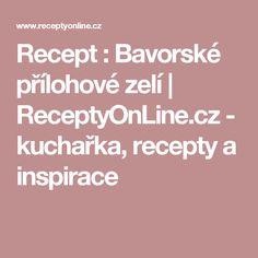 Recept : Bavorské přílohové zelí | ReceptyOnLine.cz - kuchařka, recepty a inspirace