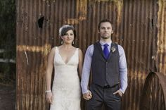 Rustic Ranch Wedding- like the guys suit :)