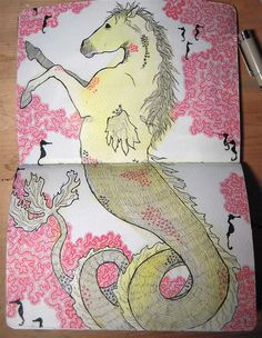 Sketchbook Project: Hippocampus by sarah draws things, via Flickr