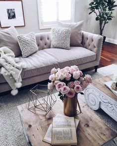 gorgeous pink living room   \ Favourite interiors of the week and other good things