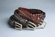 Larusmiani FW2015/16 woven leather belts