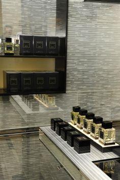 The complete ESSENZE COLLECTION at Ermenegildo Zegna 5th Av. Global Store: Italian Bergamot, Sicilian Mandarin, Javanese Patchouli, Indonesian Oud, Florentine Iris