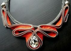 Amazing zipper necklace from Reborn Jewelry on Etsy