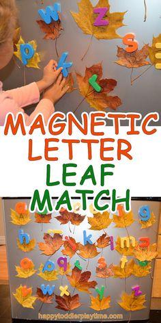 Magnetic Letter Leaf Match - HAPPY TODDLER PLAYTIME