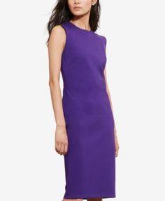 Lauren Ralph Lauren Jersey Sheath Dress - Purple S