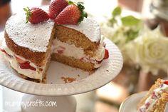 DIY - Victoria sponge cake. Paso a paso - Pastel Reina Victoria :)
